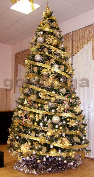 Новогодний дизайн елки